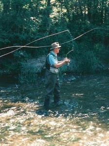 Dad fished methodically