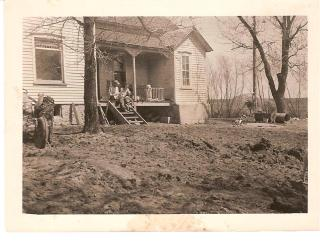 Warm air, sun, thawing ground, April 1947.
