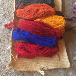 Weaver's yarn-natural dye
