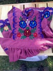 Embroidered madil or apron